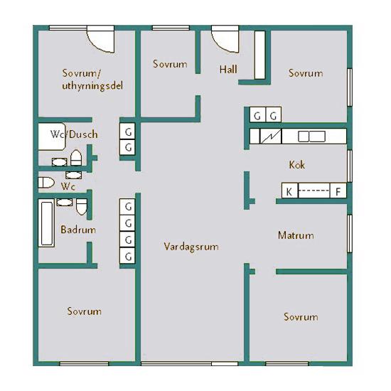 6-rum och kök (125 kvm)
