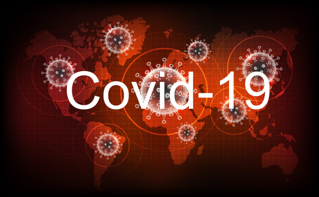 Coronavirus disease COVID-19 infection medical. New official name for Coronavirus disease named COVID-19, pandemic risk on world map background